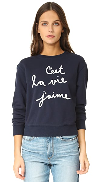 La Vie Rebecca Taylor Embroidered Sweatshirt