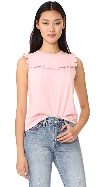 La Vie Rebecca Taylor Sleeveless Ruffle Top
