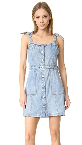 La Vie Rebecca Taylor Strappy Denim Dress