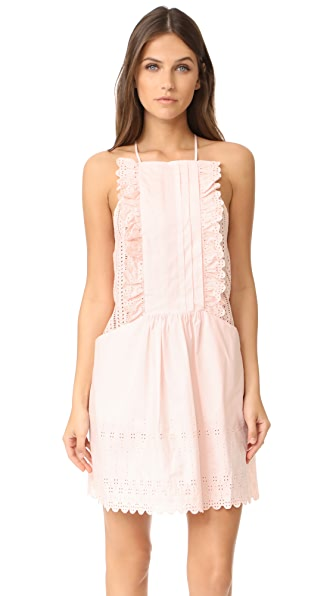 La Vie Rebecca Taylor Celsie Eyelet Dress - Pink