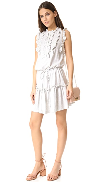 La Vie Rebecca Taylor Sleeveless Ruffle Jersey Dress