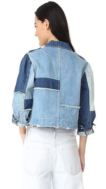 La Vie Rebecca Taylor Patched Denim Jacket