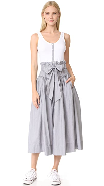 La Vie Rebecca Taylor Sleeveless Pop Dress With Rib