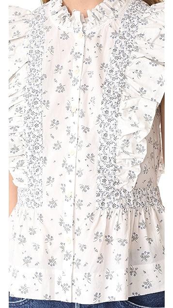 La Vie Rebecca Taylor Sleeveless Breeze Print Top