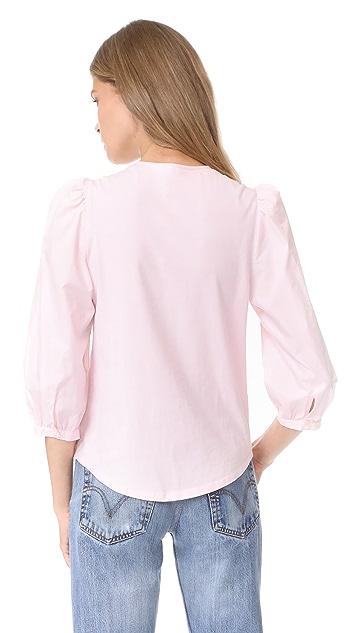 La Vie Rebecca Taylor Shirting Sleeve Top