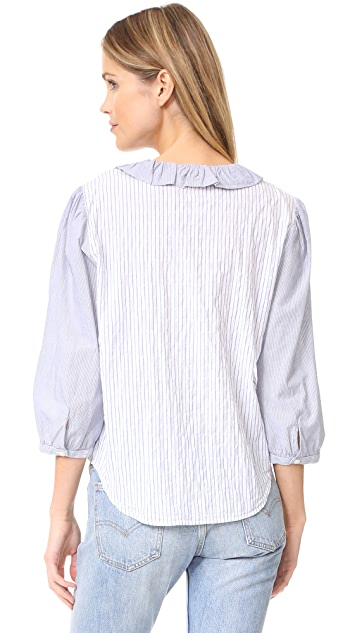 La Vie Rebecca Taylor Mixed Stripe Top