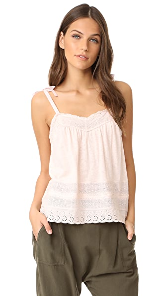 La Vie Rebecca Taylor Sleeveless Lace Cami - Shell Pink