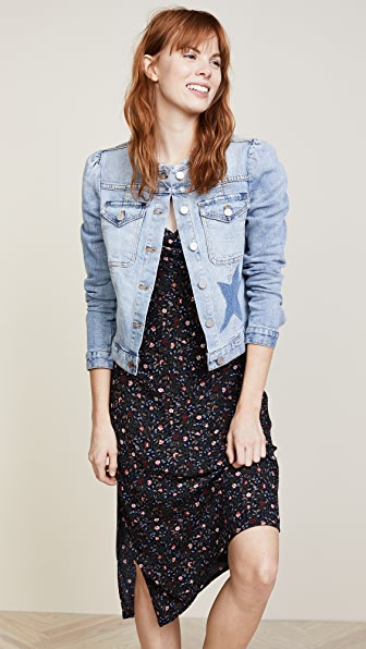 La Vie Rebecca Taylor Star Denim Jacket