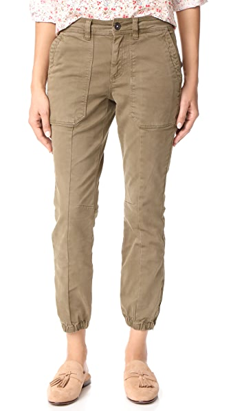 La Vie Rebecca Taylor Straight Twill Pants In Trooper