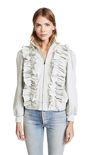 La Vie Rebecca Taylor Fleece Ruffle Jacket at Shopbop