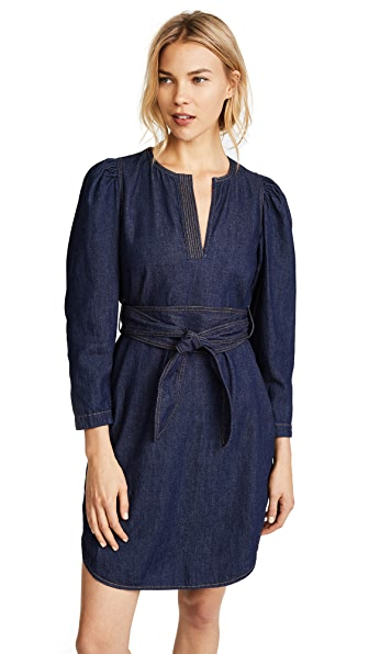 La Vie Rebecca Taylor Long Sleeve Denim Belt Dress at Shopbop