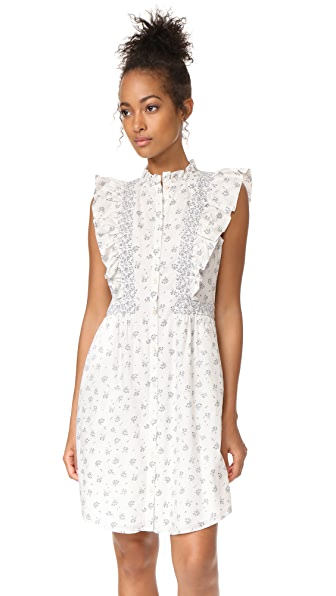 La Vie Rebecca Taylor Sleeveless Breeze Print Dress - Milk Combo