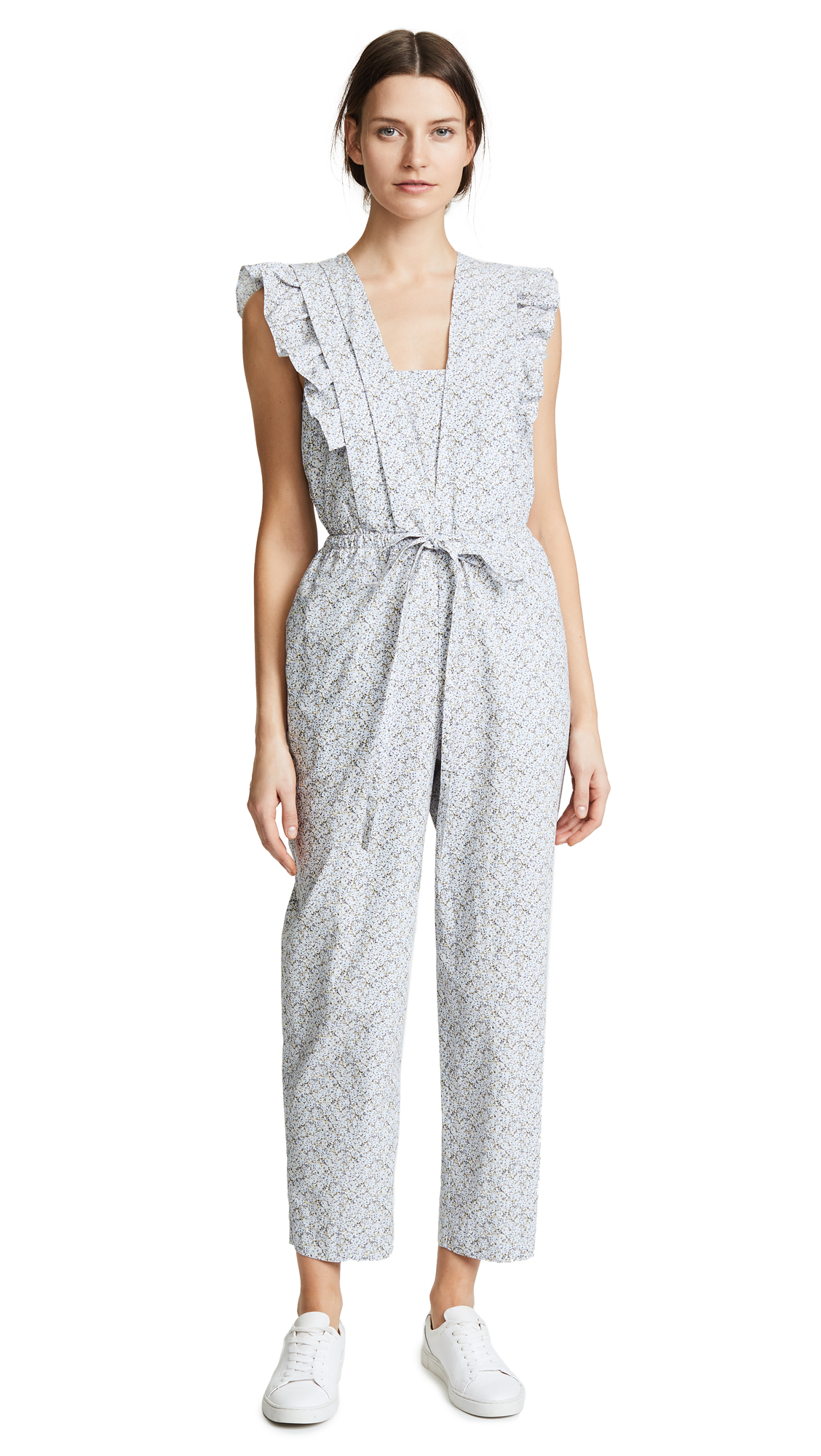La Vie Rebecca Taylor Meadow Floral Jumpsuit In Iris Combo