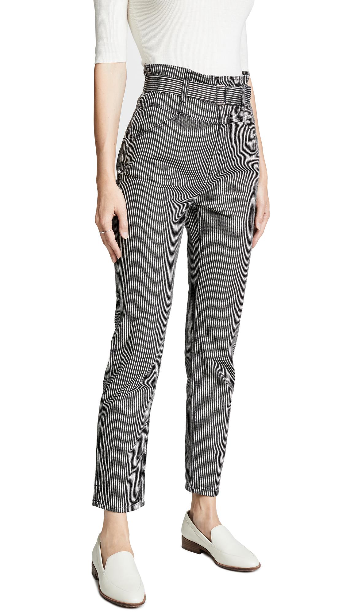 La Vie Rebecca Taylor Striped Jeans In Black