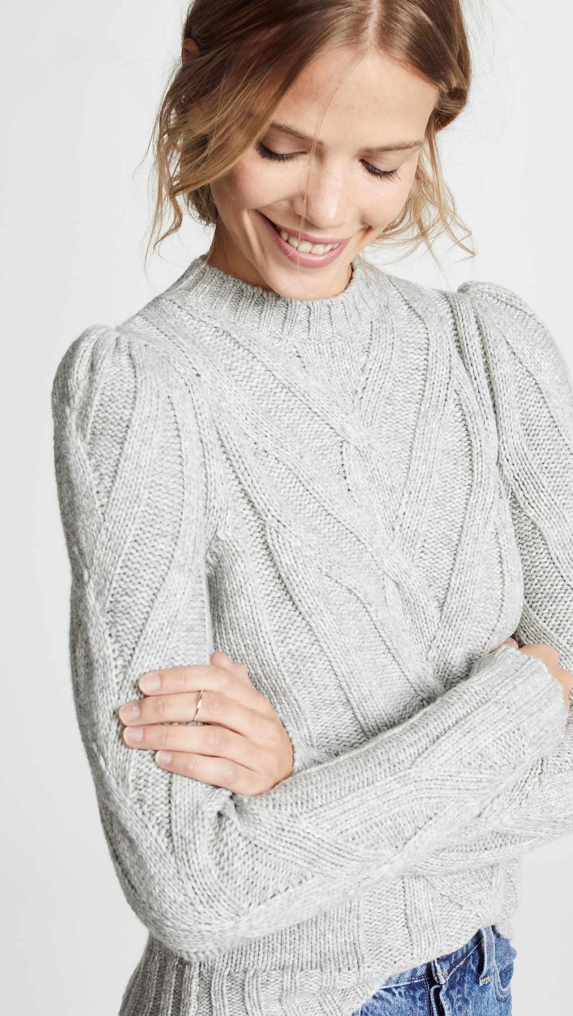 8198ee46a La Vie Rebecca Taylor Cozy Cable Knit Sweater