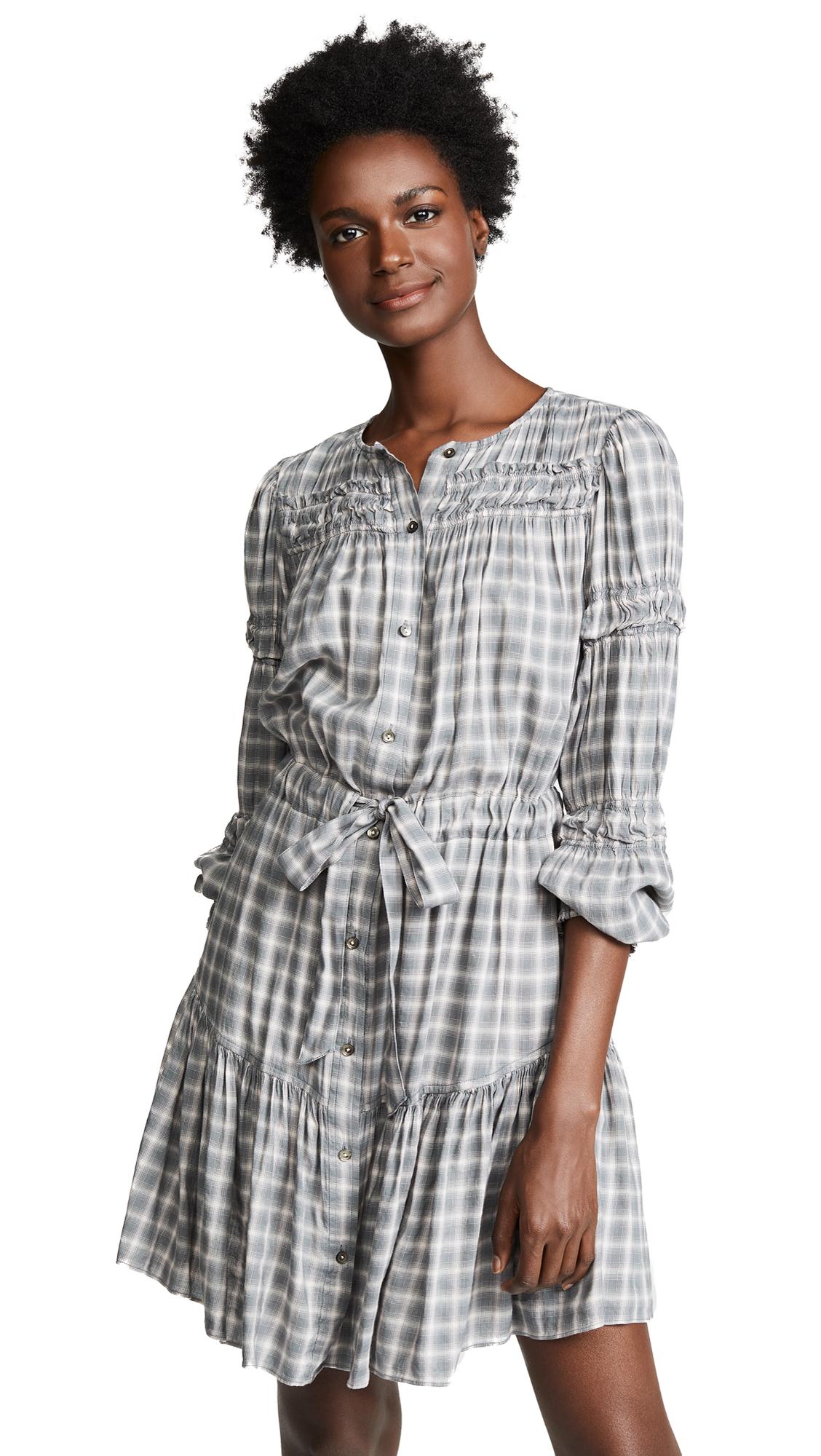 La Vie Rebecca Taylor Long Sleeve Plaid Dress