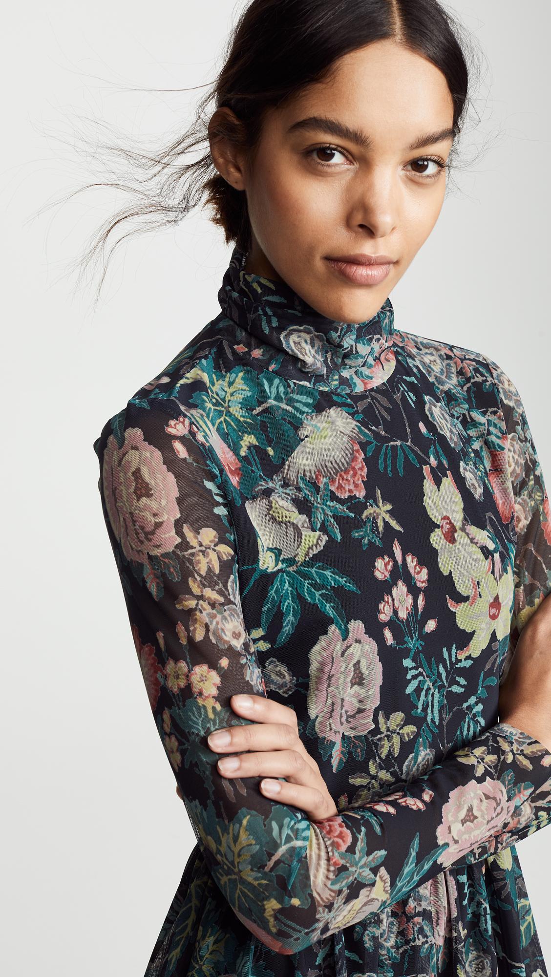 b484637a7b834 La Vie Rebecca Taylor Long Sleeve Faded Garden Dress