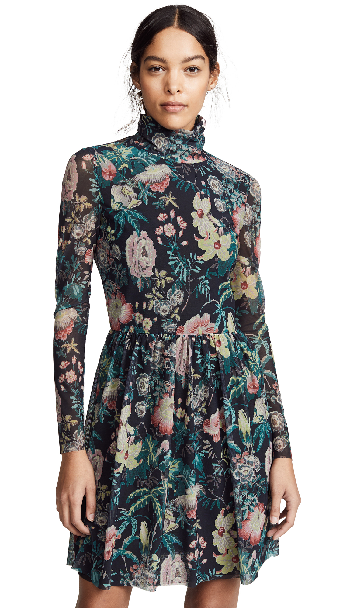 La Vie Rebecca Taylor Long Sleeve Faded Garden Dress
