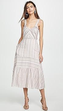 816ee206dedb5 La Vie Rebecca Taylor. Sleeveless Metallic Stripe Dress