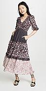 La Vie Rebecca Taylor Long Sleeve Print Dress