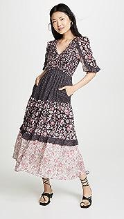 La Vie Rebecca Taylor Принтованное платье с длинными рукавами