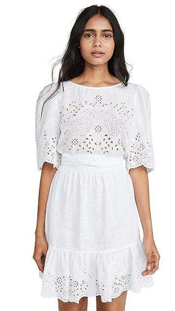 La Vie Rebecca Taylor Short Sleeve Sarcelle Dress
