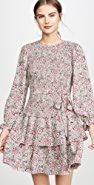 La Vie Rebecca Taylor Long Sleeve Camilla Floral Dress