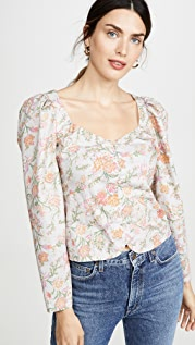 La Vie Rebecca Taylor Long Sleeve Lidia Vine Top