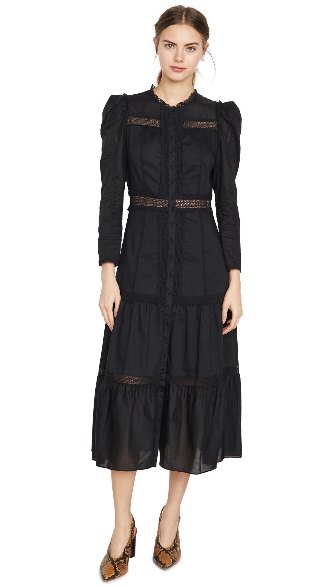 La Vie Rebecca Taylor Dresses LONG SLEEVE VOILE LACE DRESS