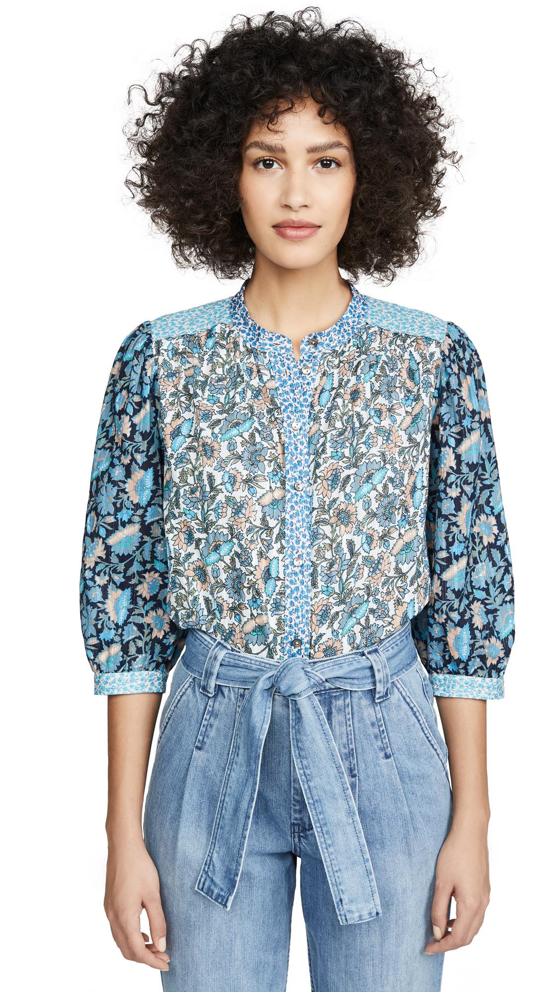 Buy La Vie Rebecca Taylor online - photo of La Vie Rebecca Taylor Long Sleeve Print Mix Top