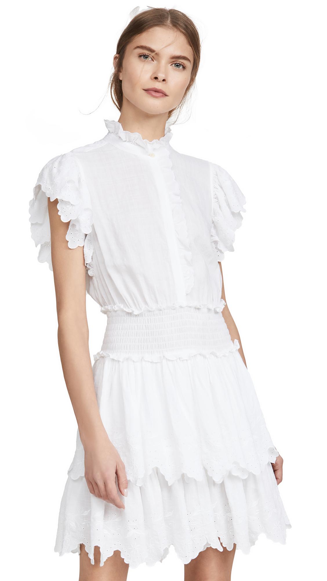 Buy La Vie Rebecca Taylor online - photo of La Vie Rebecca Taylor Sleeveless Embroidered Smock Dress