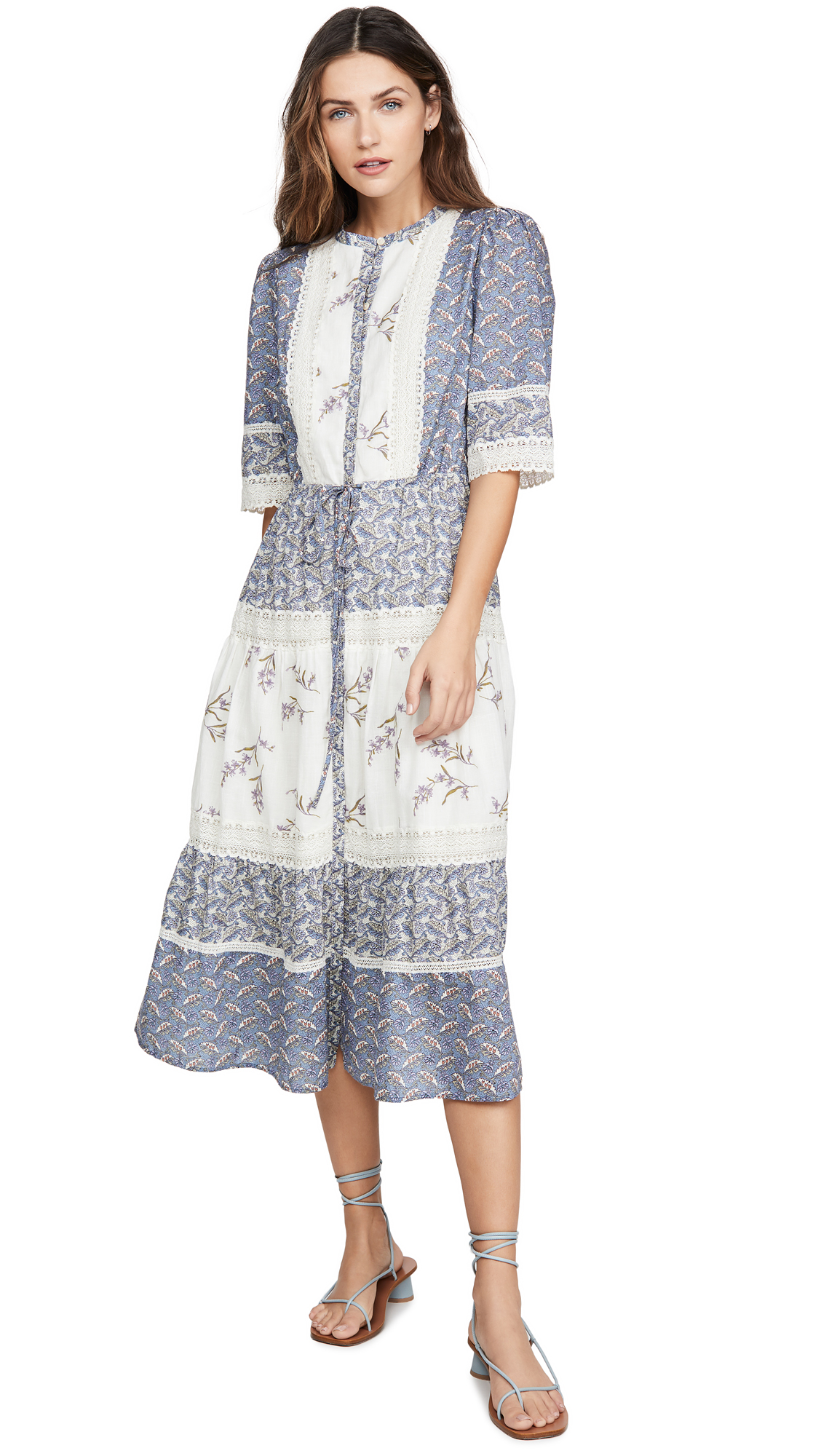 Buy La Vie Rebecca Taylor online - photo of La Vie Rebecca Taylor Long Sleeve Woodblock Lace Dress