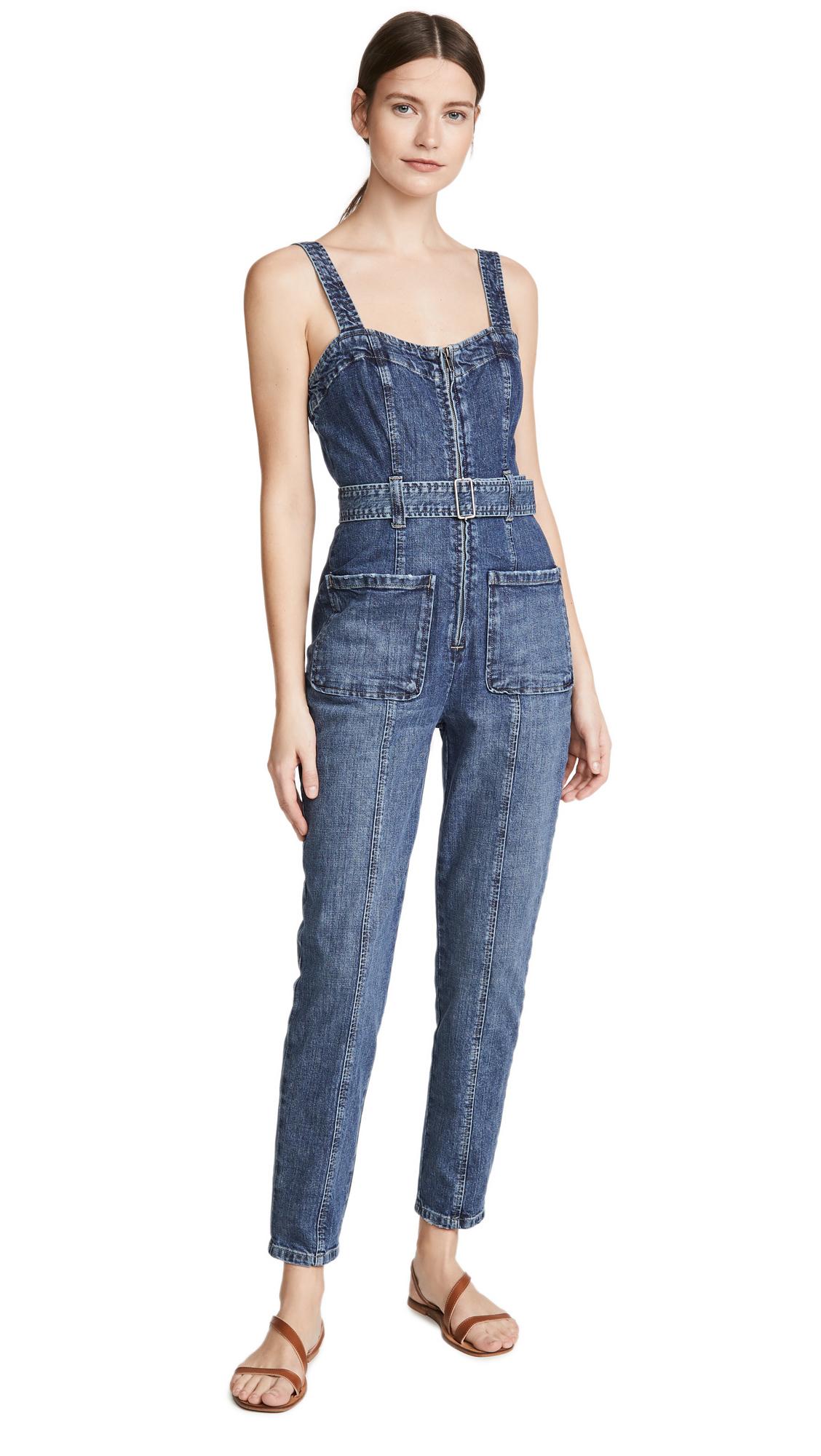 Buy La Vie Rebecca Taylor online - photo of La Vie Rebecca Taylor Sleeveless Dry Indigo Jumpsuit