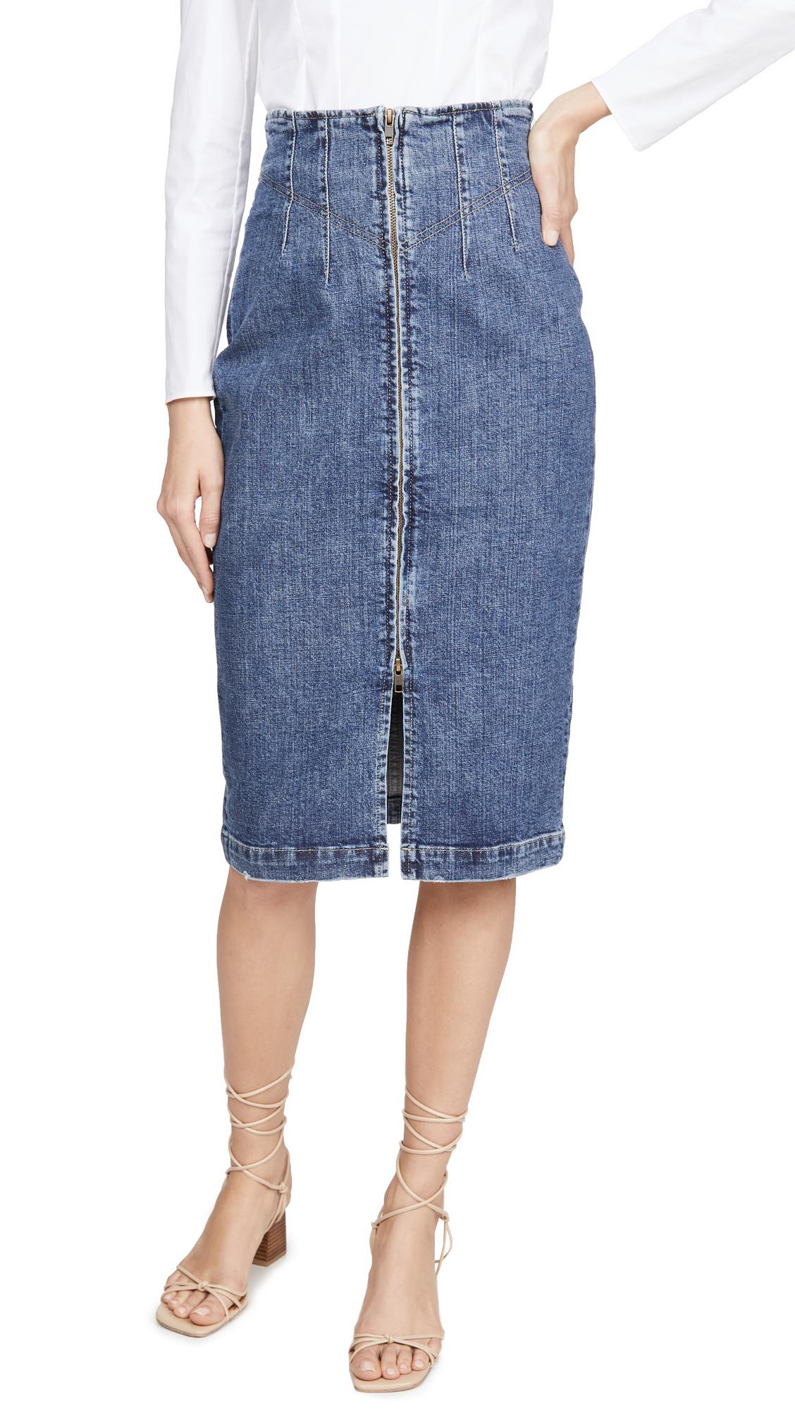 Buy La Vie Rebecca Taylor online - photo of La Vie Rebecca Taylor Dry Indigo Skirt