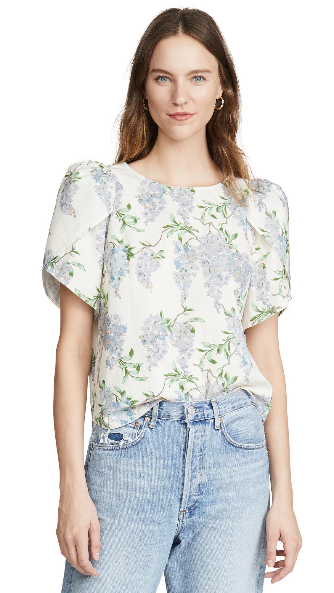 Buy La Vie Rebecca Taylor online - photo of La Vie Rebecca Taylor Short Sleeve Wisteria Top