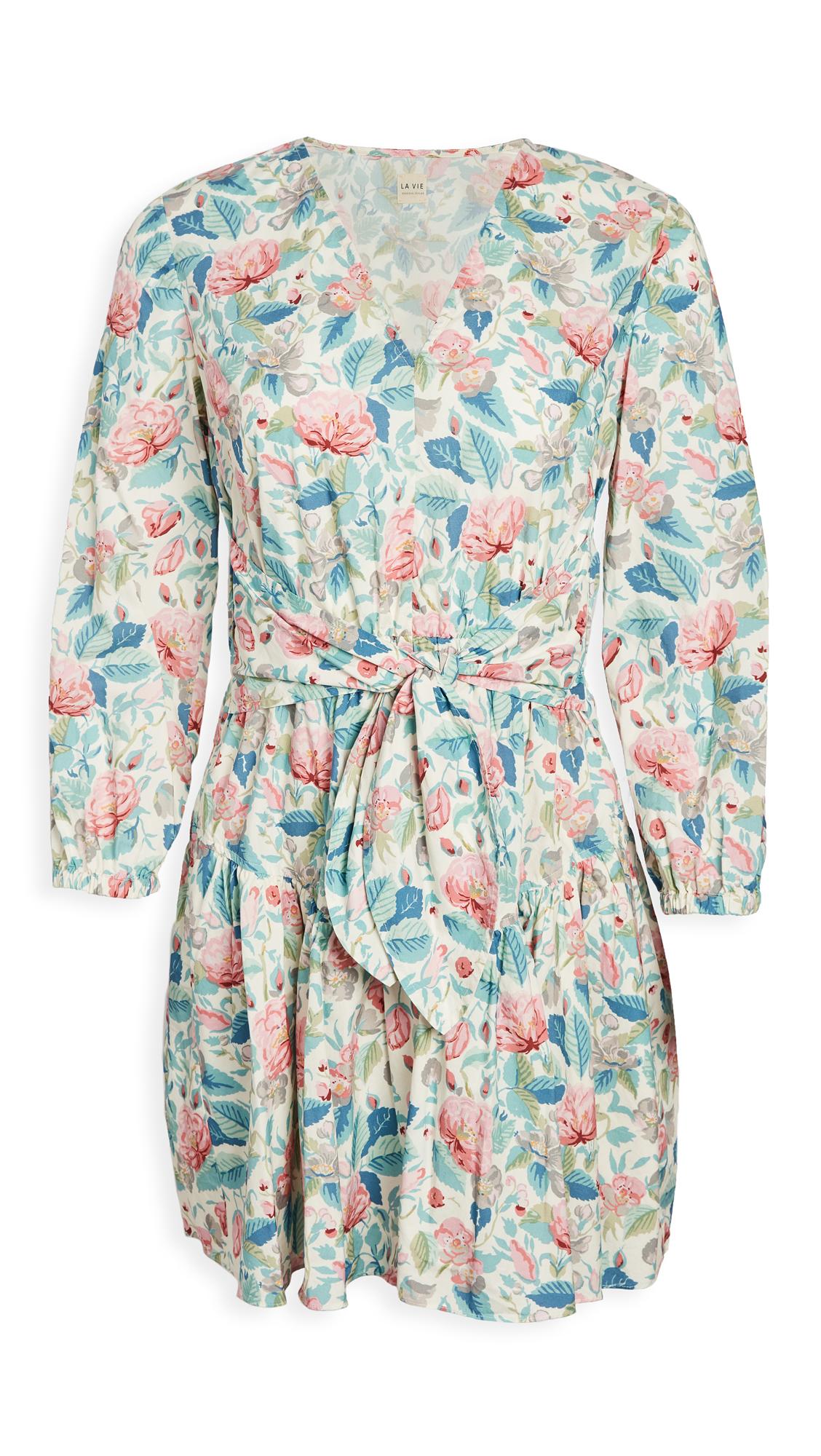 La Vie Rebecca Taylor Long Sleeve Paint Garden Dress - 40% Off Sale