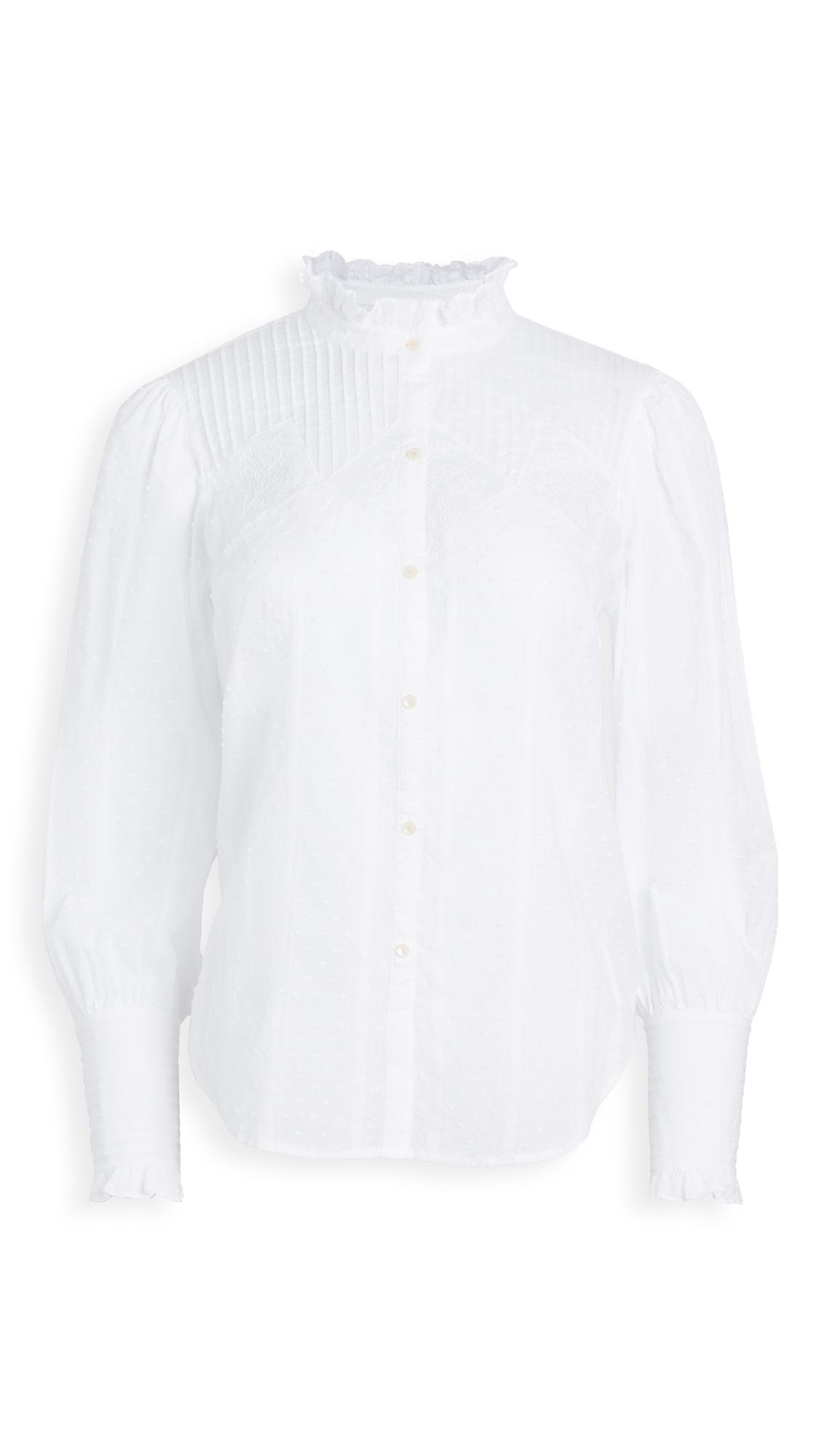 La Vie Rebecca Taylor Long Sleeve Kelsey Clip Top - 40% Off Sale