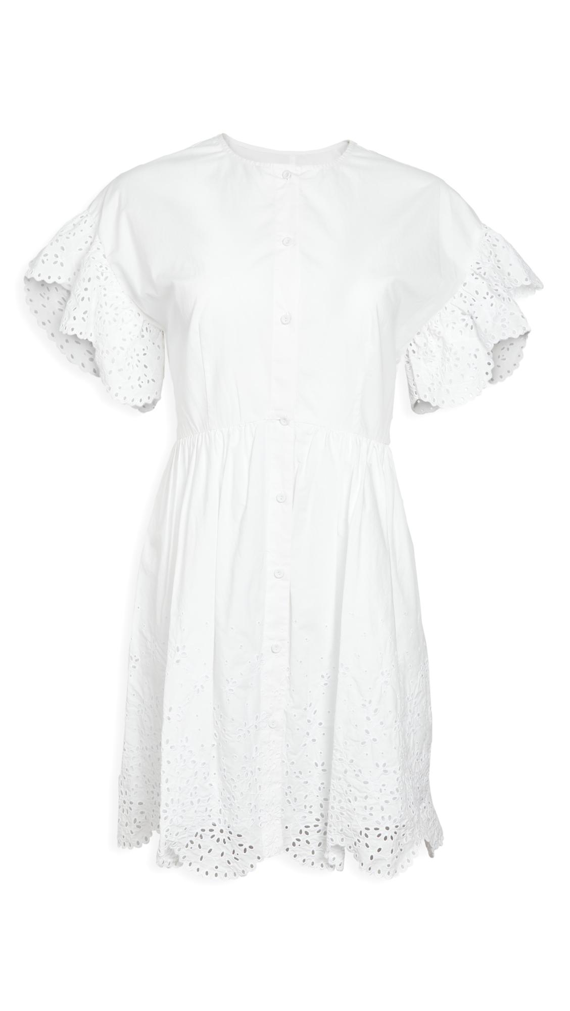 La Vie Rebecca Taylor Short Sleeve Eyelet Dress - 40% Off Sale