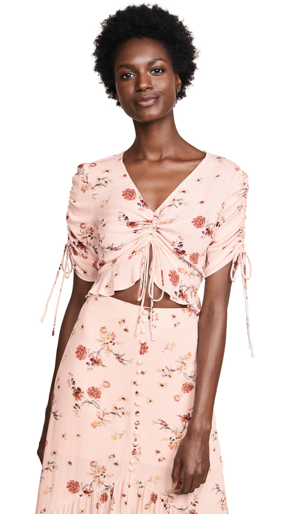 LOST + WANDER Rosa Crop Top in Pink Floral