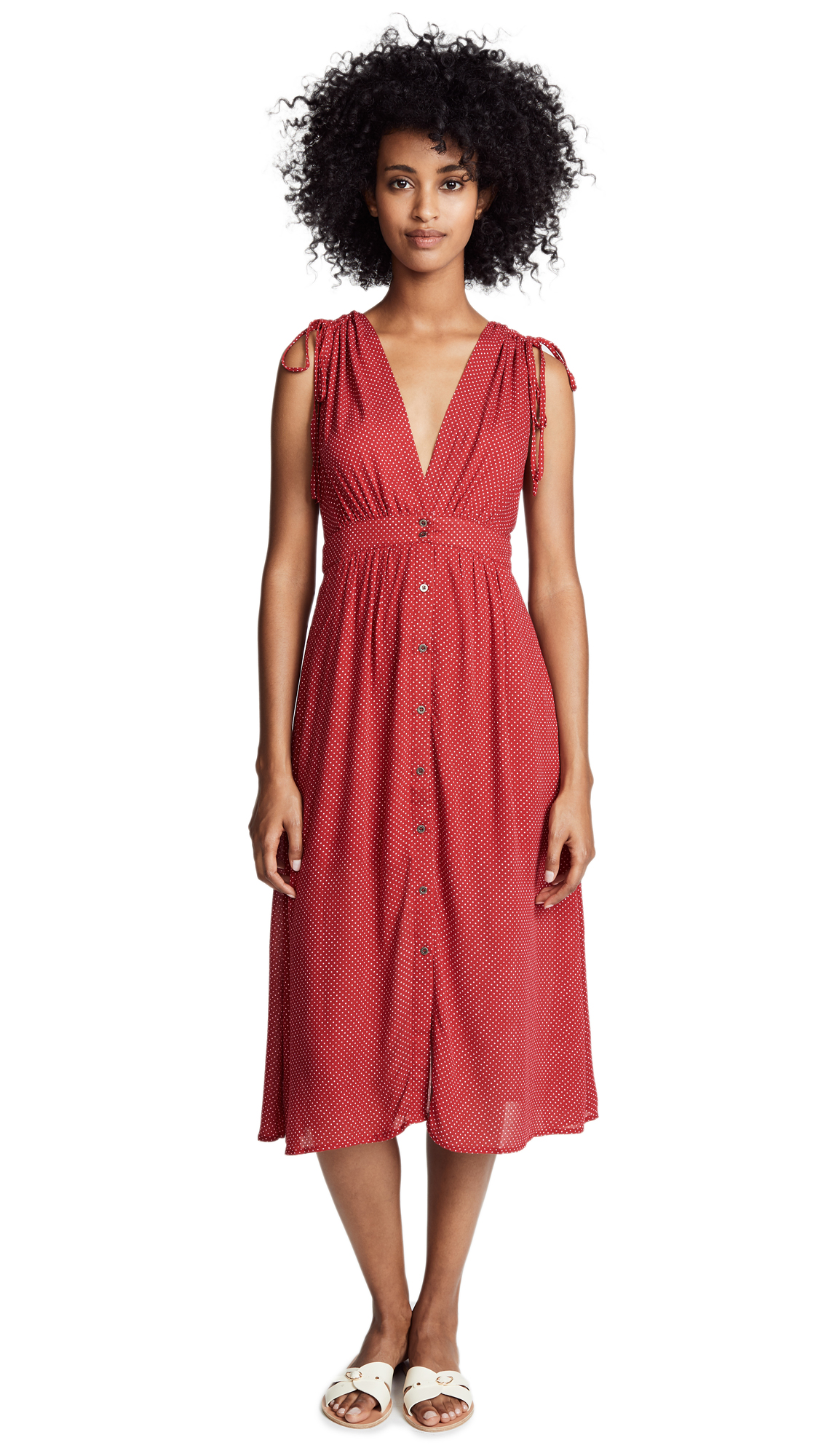 Lost + Wander Ay Caramba Midi Dress In Red