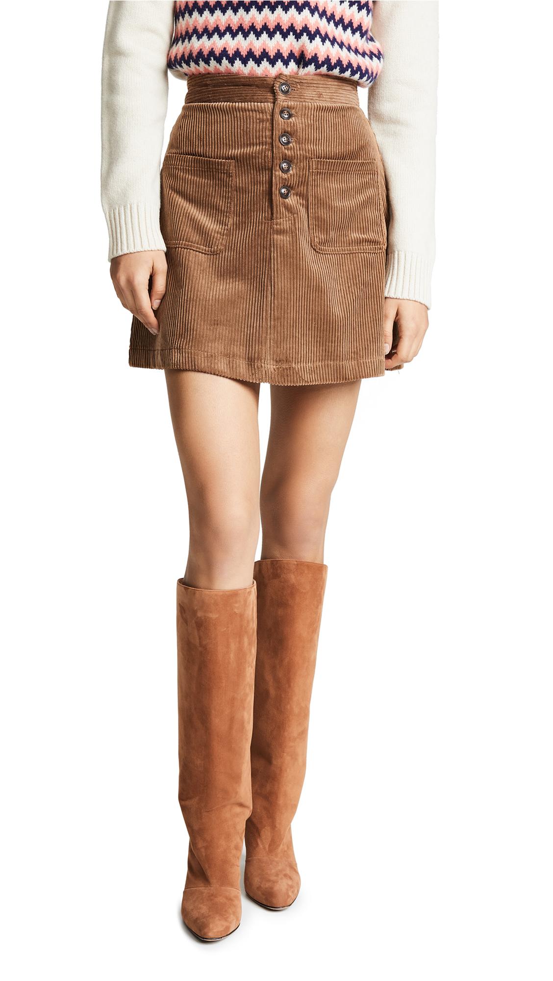 Lost + Wander Alicia Mini Skirt In Mocha