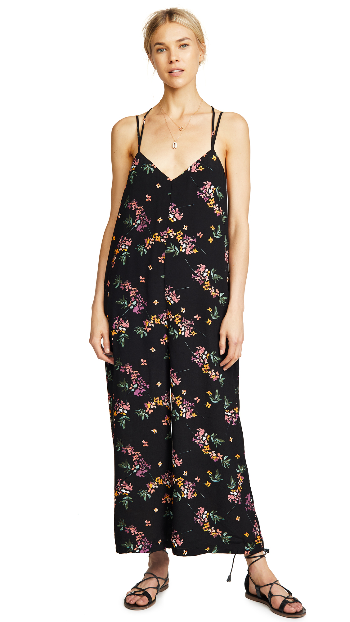 Lost + Wander Mambo No. 5 Jumpsuit In Black Floral