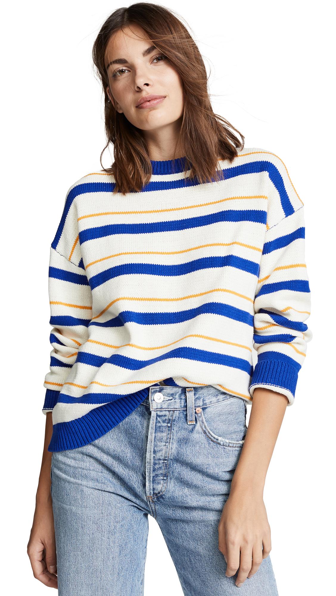 LOST + WANDER After Glow Sweater in Blue Multi