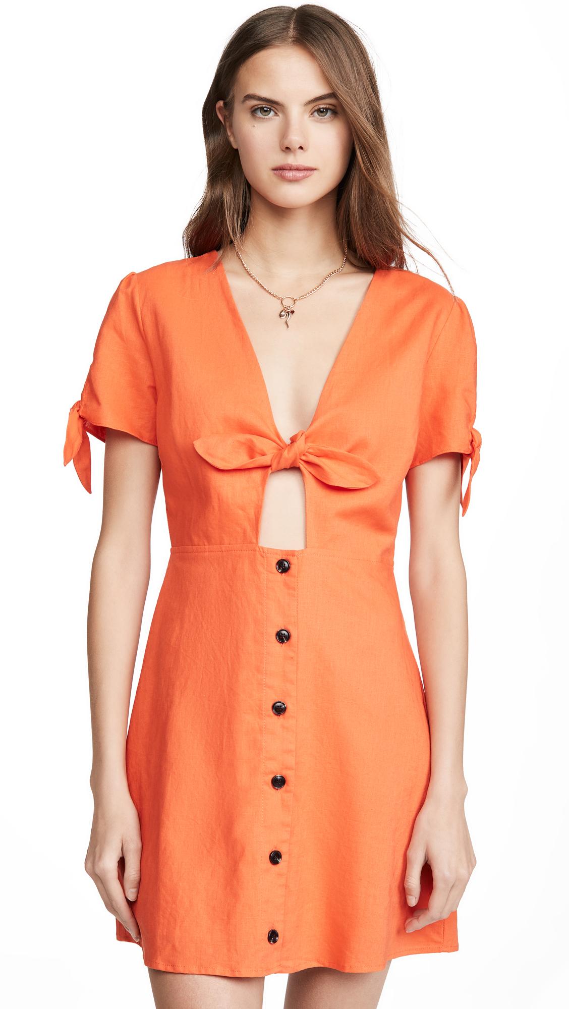 Buy Lost + Wander Papaya Mini Dress online beautiful Lost + Wander Clothing, Dresses