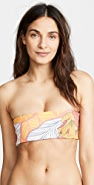 Maaji Mellow Yellow Ruched Reversible Bikini Top