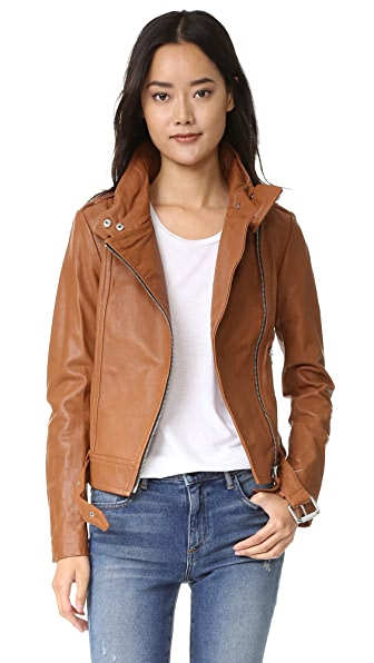 Mackage Hania Leather Jacket - Cognac