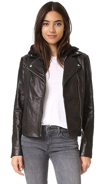 Mackage Yoana Leather Jacket In Black