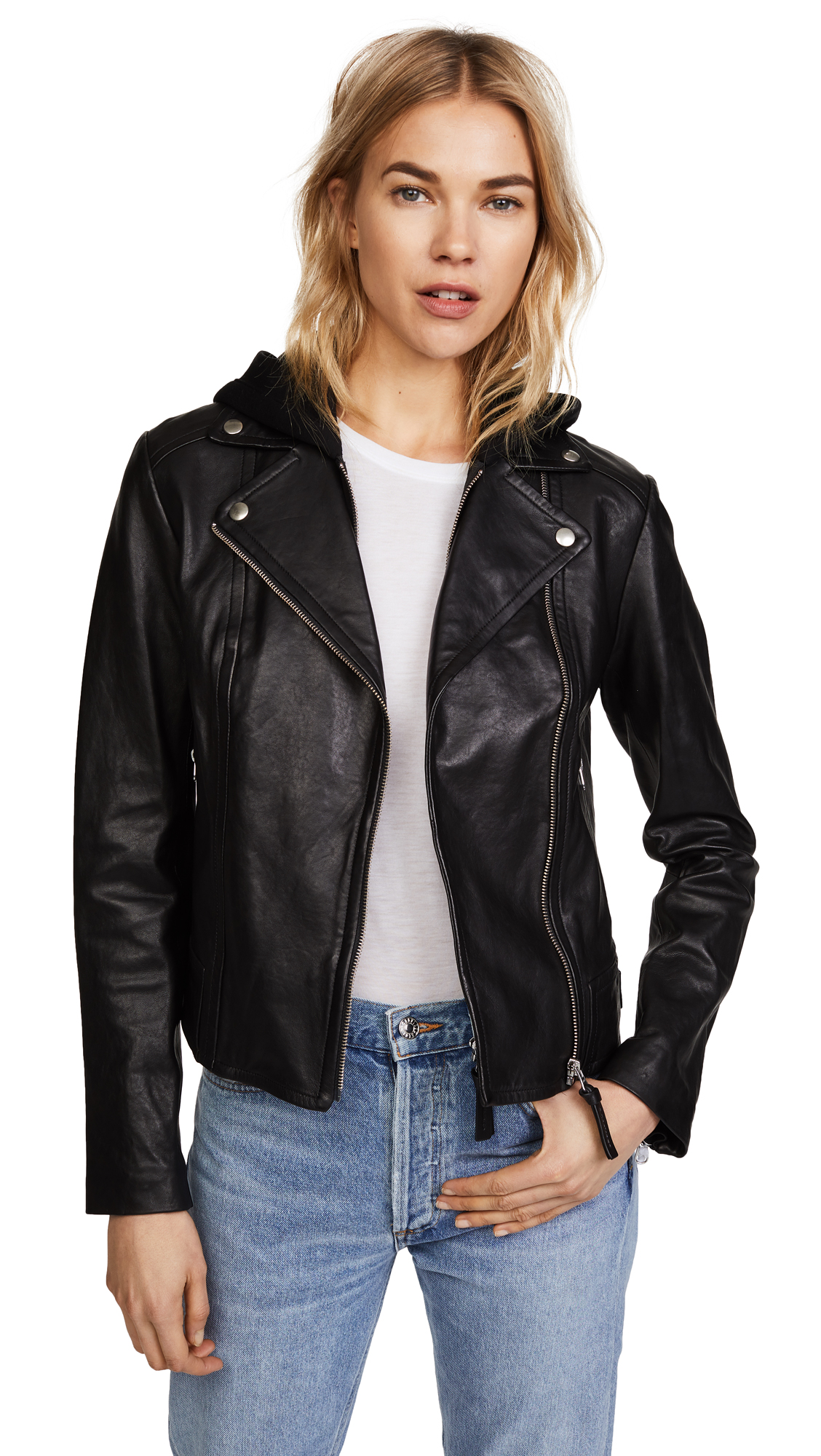 Mackage Yoana Leather Jacket - Black