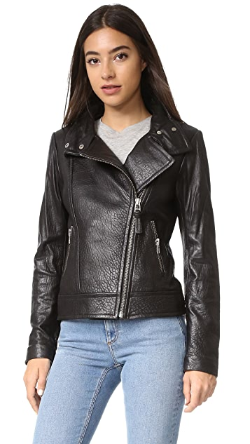 Mackage Lisa Pebbled Leather Jacket