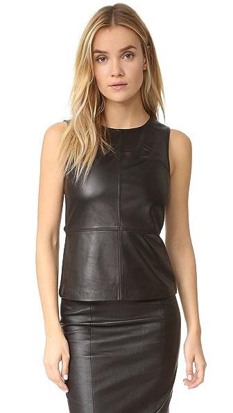 Mackage Sierra Leather Top - Black